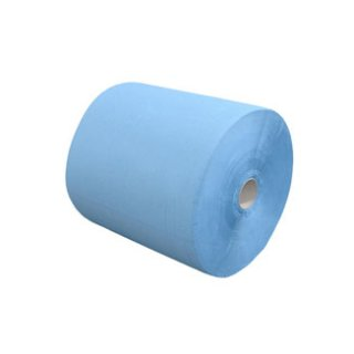 Putzpapier auf Rolle, Blattgröße 38 x 36 cm, 3-lagig, blau, 1 Rolle á 1000 Blatt