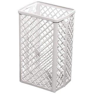 Abfallkorb 35L, Kunststoff, weiß, H 500 x B 320 x T 250 mm, inklusive Wandhalterung, Preis pro Stück