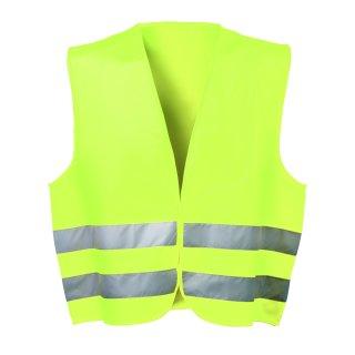 Polyester Warnweste, Größe: universal, gelb, inkl. Klettverschluss - EN ISO 20471 Klasse 2