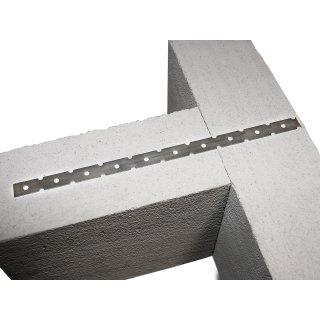 Mauerverbinder 300 mm A4 Stärke 0,5 mm Edelstahl Flachanker Maueranker 1.4401 CE