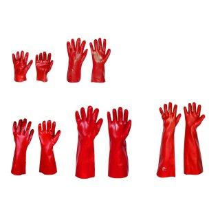 STRONG HAND® Vinyl rot 27 35 40 45 60 cm Gr. 10 Arbeits Handschuhe (4.1.3.1.X)