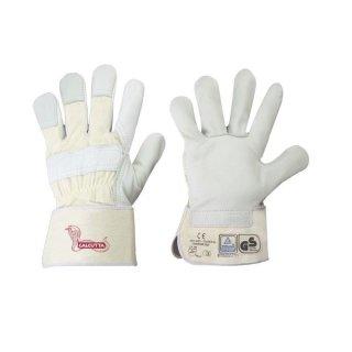 STRONG HAND® 0157 CALCUTTA, Rindvollleder Arbeitshandschuh, gefüttert, gummierte Stulpe