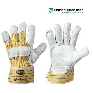 STRONG HAND 0158 BOMBAY Rindvollleder-Arbeitshandschuh, Leder, Gr. 10,5