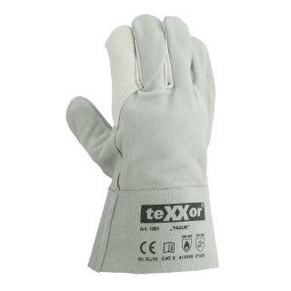 Rindvoll Spaltleder Handschuh YASUR texxor 1201, Größe 10 Arbeitshandschuhe Leder