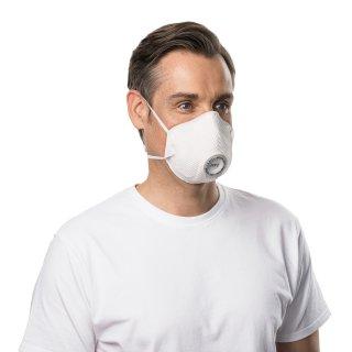 Moldex Atemschutzmaske 2485 FFP2 NR D mit Klimaventil, EN 149:2001 + A1:2009, Preis pro Stück