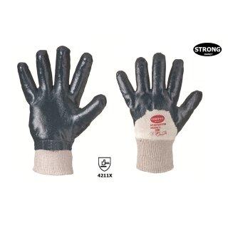STRONG HAND® 0560 NAVYSTAR, 100% Baumwolle, Nitril teilbeschichtet, mit Strickbund