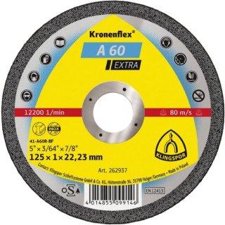 Klingspor Trennscheibe A 60 Extra 115 / 125 x 1 x 22,23 mm, für Edelstahl und Metall