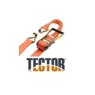 TECTOR® Ratschen-Zurrgurt, 2-teilig mit Spitzhaken, 2000/4000 daN, Abmessung: 50 mm x 2 4 6 8 10 12 14 m