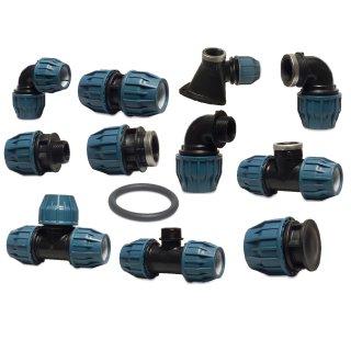 PP Klemmverbinder, verschiedene Ausführungen, 16 - 110 mm, DVGW/KIWA/WRAS/SVGW