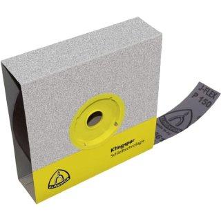 Klingspor Schleifpapier-Rolle KL 361 JF in Spenderbox, mit Gewebeunterlage, für Edelstahl, Stahl, Metall Universal, NE-Metalle, Holz