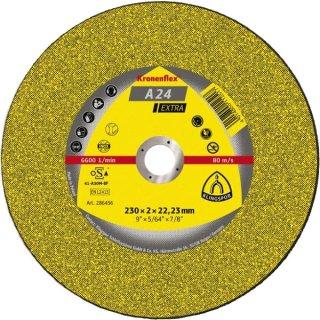 Klingspor Trennscheibe A 24 Extra, Metall universal, Ø125 - 300 x 2,0 - 3,5 x 22,23 mm, gerade oder gekröpft