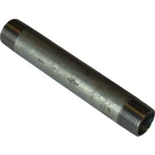 """Rohrnippel Nr. 23, Stahl verz., Größe: 1/8"""" - 4"""", Länge: 40 - 2000 mm, beidseitig Außengewinde"""