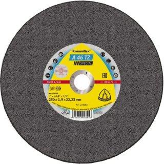 Klingspor A 46 TZ Special, 100 - 230 x 1,6 - 1,9 x 22,23 mm, selbstschärfend, für Stahl und Edelstahl
