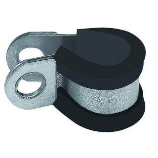 RIEGLER, RSGU - Rohrschelle, Stahl verzinkt (W1), mit Gummiprofilierung, nach DIN 3016 Form D1, Spannbereich 6,0 mm - 40,0 mm