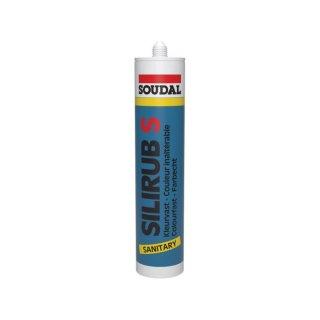 Soudal SILIRUB S, Essigvernetzendes Sanitärsilikon 300 ml, verschiedene Farben