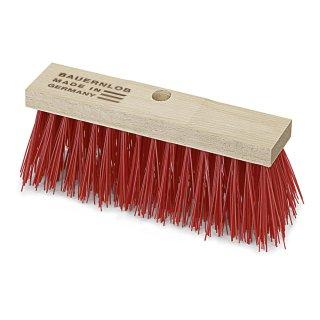 Straßenbesen, BAUERNLOB, Elaston rot , Sattelholz, mit Stielloch, verschiedene Breiten