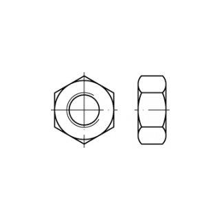 DIN 934 / ISO 4032, galv. verzinkt, Stahl 8, Sechskantmuttern