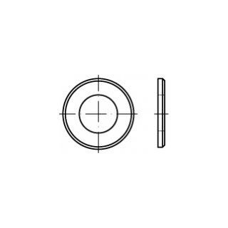 DIN 125 / ISO 7090, Form B / mit Fase, galv. verz., Stahl 140 HV B, dünne Scheiben