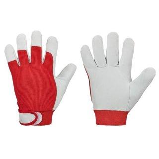 goodjob® *RED NAPPA* Nappalederhandschuhe, 100% Baumwolle, rot