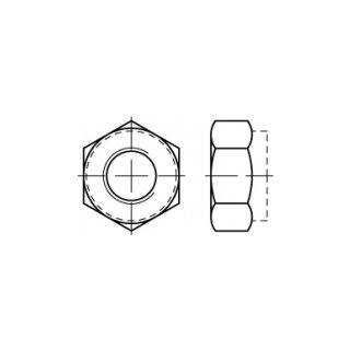 DIN 985 / ISO 10511, Edelstahl A2, Sechskantmuttern