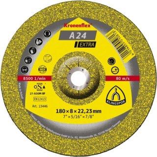 Klingspor Schruppscheibe A 24 Extra, gekröpft, 100 - 230 mm-Ø, Metall universal