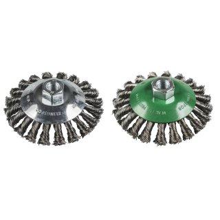 Klingspor BK 600 Z Kegelbürste mit Gewinde, gezopfter Draht, für Stahl und Edelstahl, M14 Aufnahme