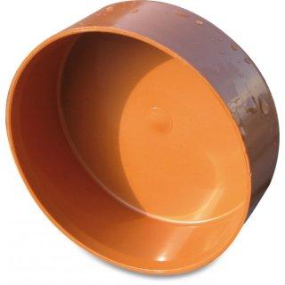 KG Kappe, PVC-U, SN4, DN110 - 500 mm, rostbraun