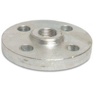 Gewindeflansch DIN 2566, Stahl, verzinkt, DIN Flansch x Innengewinde, DN15 - DN150, PN10/16