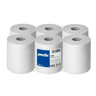 Profix softy Handtuchrolle 22x36 cm, 500 Blatt, 6er Pack Zellstoff, hochweiß, 2-lagig, 6 Ro/VE