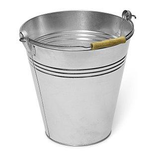Baueimer aus Stahlblech verzinkt, 12 Liter